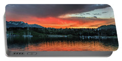 Dillon Marina At Sunset Portable Battery Charger