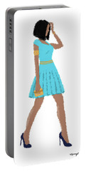 Portable Battery Charger featuring the digital art Dima by Nancy Levan