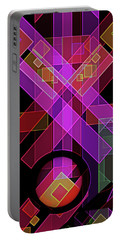 Portable Battery Charger featuring the digital art Dimensions-18 by Lynda Lehmann