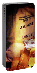 Dimes Dollars And Gold Portable Battery Charger