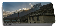 Portable Battery Charger featuring the photograph Dingboche Nepal Sunrays by Mike Reid