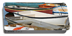 Dinghys At Bearskin Neck Portable Battery Charger