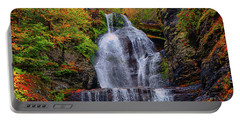 Dingmans Falls In Autumn 2 Portable Battery Charger by Raymond Salani III