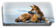 Dingo On Fraser Island Beach Portable Battery Charger
