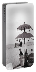 Portable Battery Charger featuring the photograph Dinner On The Beach by Cassandra Buckley