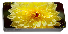Dinner Plate Dahlia In Starry Sky Portable Battery Charger