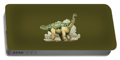 Dinosaur T-shirt Portable Battery Charger by Herb Strobino