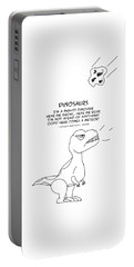 Portable Battery Charger featuring the drawing Dinosaurs by John Haldane