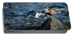 Dipper On The Rock Portable Battery Charger by Torbjorn Swenelius