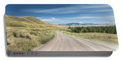 Dirt Road Through Mountains Portable Battery Charger