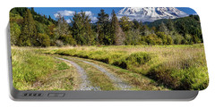 Dirt Road To Mt Rainier Portable Battery Charger