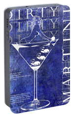 Dirty Dirty Martini Patent Blue Portable Battery Charger by Jon Neidert