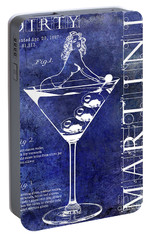 Dirty Martini Patent Blue Portable Battery Charger by Jon Neidert