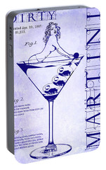 Dirty Martini Patent Blueprint Portable Battery Charger by Jon Neidert