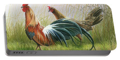 Portable Battery Charger featuring the painting Disagreement by Mike Brown