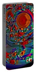 Portable Battery Charger featuring the digital art Discopolis 10 by Lynda Lehmann