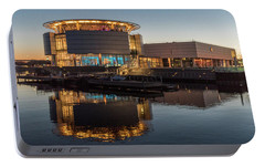 Portable Battery Charger featuring the photograph Discovery World by Randy Scherkenbach