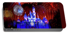 Disneyland 60th Anniversary Fireworks Portable Battery Charger by Mark Andrew Thomas