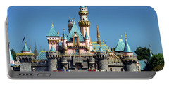 Portable Battery Charger featuring the photograph Disneyland Castle by Mariola Bitner