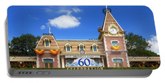 Portable Battery Charger featuring the photograph Disneyland Entrance by Mark Andrew Thomas