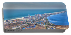 Distant Aerial View Of Gulf Shores Portable Battery Charger