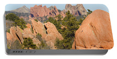 Distant Garden Of The Gods From Red Rock Canyon Portable Battery Charger