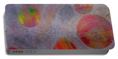 Portable Battery Charger featuring the painting Distant Planets by Robert Margetts