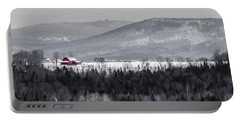 Distant Red Barn Portable Battery Charger