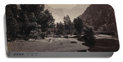 Distant View Of The Domes, Yosemite Valley, California Portable Battery Charger