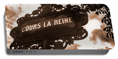 Distressed Parisian Street Sign Portable Battery Charger
