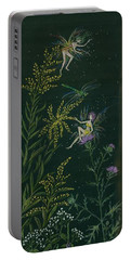 Ditchweed Fairies Goldenrod And Thistle Portable Battery Charger
