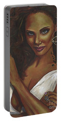 Portable Battery Charger featuring the painting Diva by Alga Washington