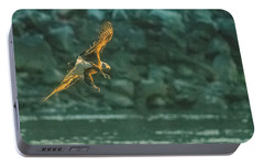 Portable Battery Charger featuring the photograph Diver Down Close-up by Jeff at JSJ Photography