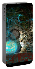 Portable Battery Charger featuring the digital art Divination by Anastasiya Malakhova