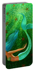Diving Mermaid Fantasy Art Portable Battery Charger by Sue Halstenberg