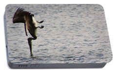 Portable Battery Charger featuring the photograph Diving Pelican by Laurel Talabere