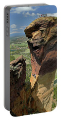 Portable Battery Charger featuring the photograph Dm5314 Climbers On Monkey Face Rock Or by Ed Cooper Photography