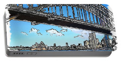 Portable Battery Charger featuring the photograph Do-00058 Sydney Harbour Bridge And Opera House by Digital Oil