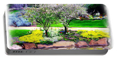 Portable Battery Charger featuring the photograph Do-00066 Lake Walk by Digital Oil