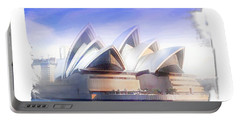 Portable Battery Charger featuring the photograph Do-00109 Opera House by Digital Oil