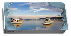 Portable Battery Charger featuring the photograph Do-00115 Boats In Gosford by Digital Oil