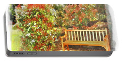 Portable Battery Charger featuring the photograph Do-00122 Inviting Bench by Digital Oil