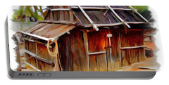 Portable Battery Charger featuring the photograph Do-00129 Old Cottage by Digital Oil