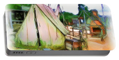Portable Battery Charger featuring the photograph Do-00139 Tent by Digital Oil