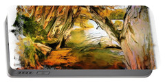 Portable Battery Charger featuring the photograph Do-00268 Trees On Water In Avoca Estuary by Digital Oil