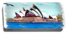 Portable Battery Charger featuring the photograph Do-00293 Sydney Opera House by Digital Oil