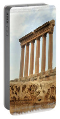 Do-00314 The 6 Corinthian Columns In Baalbeck Portable Battery Charger
