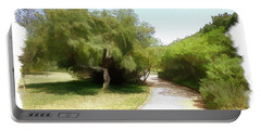 Portable Battery Charger featuring the photograph Do-00336 -pathway Bois Des Pins by Digital Oil