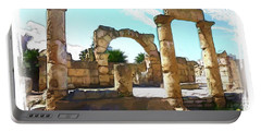 Portable Battery Charger featuring the photograph Do-00408 Colonnades In Tyr by Digital Oil