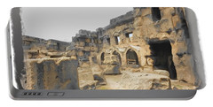 Portable Battery Charger featuring the photograph Do-00452 Inside The Ruins by Digital Oil